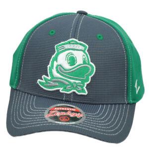 NCAA-Zephyr-Oregon-Ducks-Grigio-Verde-Cappello-Regolabile-Curvo-Bill-Bicolore