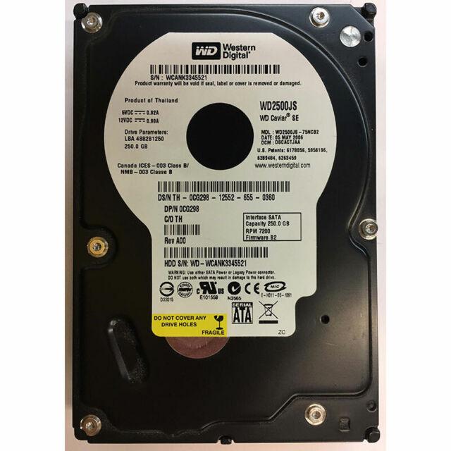 Western Digital 250GB, 7200RPM, SATA - WD2500JS-75NCB2