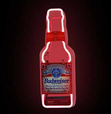 'budwesier' Bottle Red Beer Bar Garage Party Decor Neon Sign Light Sufficient Supply Collectibles Signs & Tins
