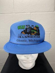 Bow Hunter Mesh Trucker Snapback Hat Funny Comedy Bear Hunting Michigan Archery Ebay