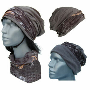 Cool4 Beanie Anthracite Paisley IN Kopftuch-Look - 2erSet Chemo Turban SBK02