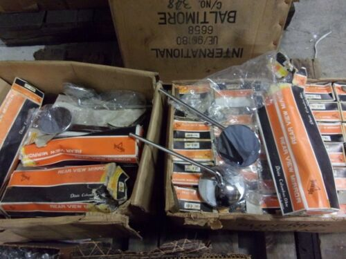 Box of 20 Pairs of NOS Superior 10 Stem Vintage Clamp On Mirrors for Choppers
