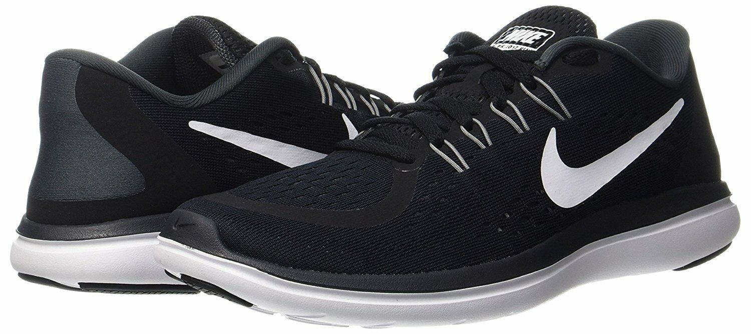 6a1d00fc5a7 Nike Flex 2017 RN Size 9 Men's Running Shoes 898457-001 Black/White ...