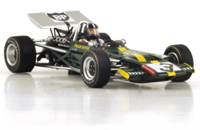 Spark models S2146 1 43 1970 Lotus 69 Graham Hill Castellet Course F2 Modèle