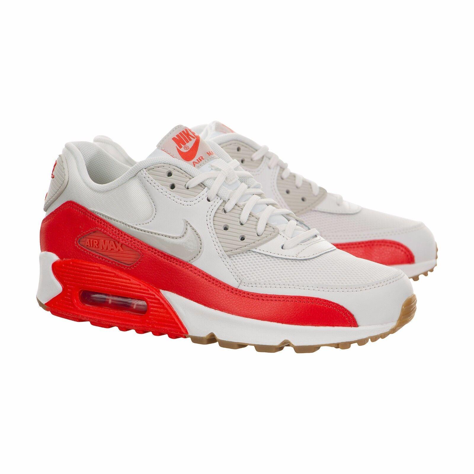 Nike Femmes Air Max 90 Huilles Courir Blanc Crimson 616730-113 Sz 5 - 8.5