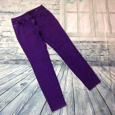 Jeans Sofia Vergara Women's Size 4 Purple Stretch Five Pocket Low Rise Skinny Jeans Agreeable Sweetness