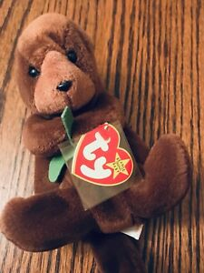 1996 Ty Beanie Baby Algues The Otter Ancien