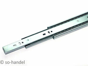 1 Paar 2 St/ück Vollausz/üge 450 mm mit Selbsteinzug 45 Kg Tragkraft Schubladenschiene Teleskopschiene von SO-TECH