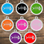 thumbnail 5 - Stainless-Steel-with-Enamel-Round-Pet-ID-Tags-Various-Designs-and-Colors