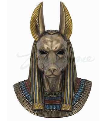 Anubis Bust Egyptian God Wall Plaque Sculpture - WE SHIP WORLDWIDE-MINT