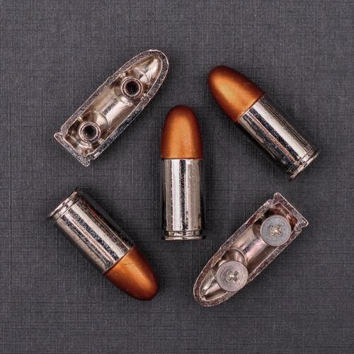 "10X Motard Cowboy Western argent or Bullet Leathercraft Concho 3//8/""x1-1//8/"""