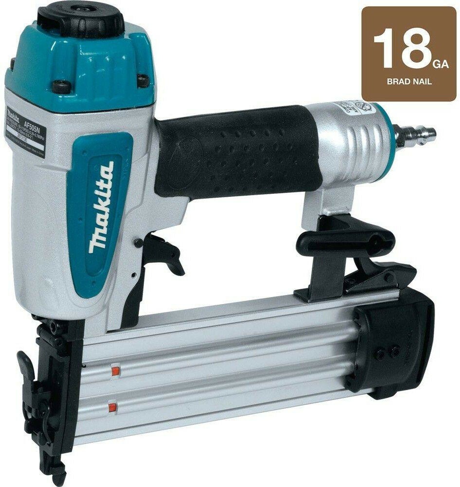 Brad Nailer Air Tool Makita 2 in. x 18 Gauge Fastener Depth Control Soft Grip