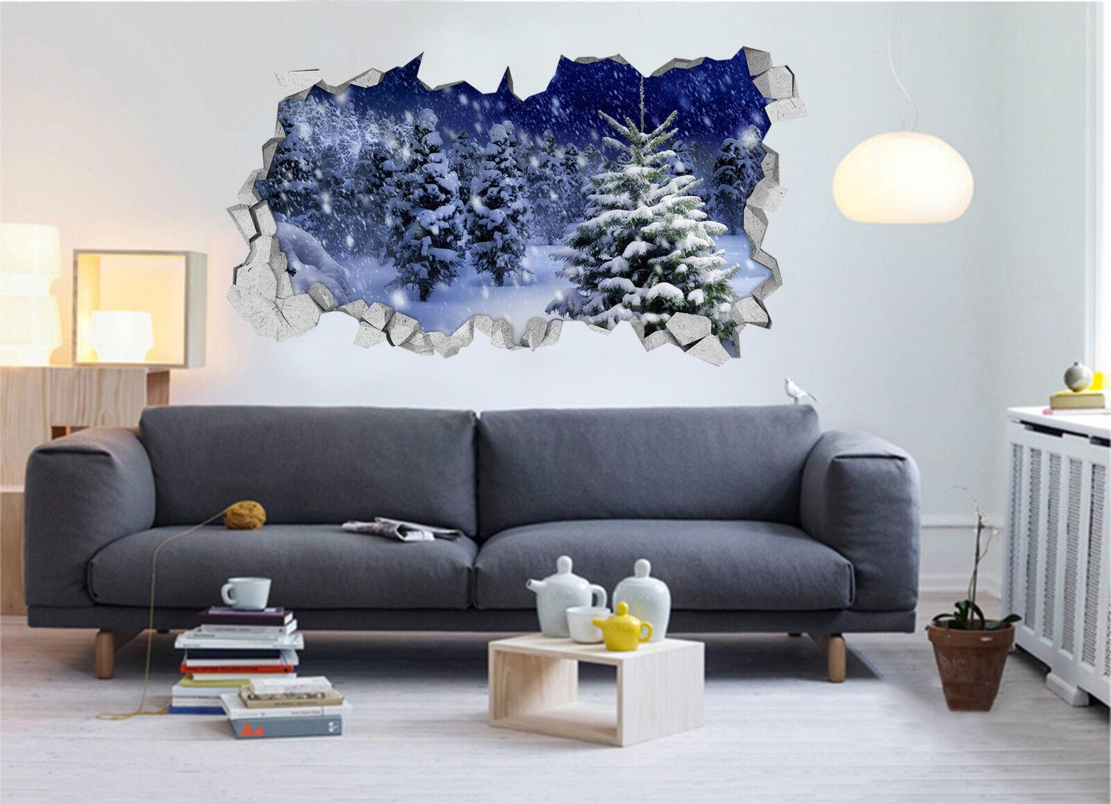 3D Schnee Kiefer 53 Mauer Murals Aufklebe Decal Durchbruch AJ WALLPAPER DE Lemon