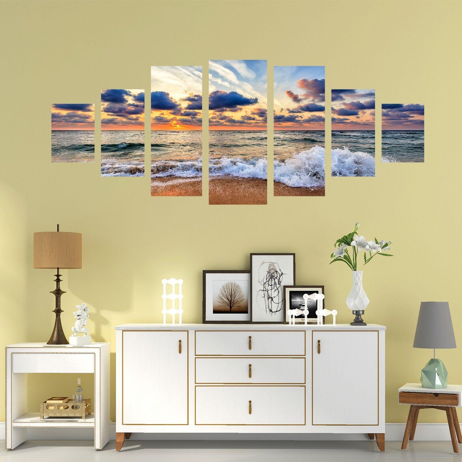 3D Sea Waves 800 Unframed Print Wall Paper Decal Wall Deco Indoor AJ Wall Jenny