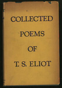 Details About T S Eliot Collected Poems 1909 1935 1946