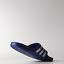 Adidas-Duramo-Mens-Slides-Flip-Flops-Pool-Beach-Slippers-Black-Navy-Blue-Stripes miniatura 28
