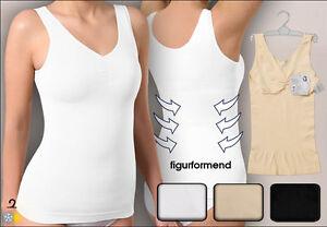 Damen-Hemd-Form-Hemd-figurformend-seamless-uni-formt-Taille-und-Bauch