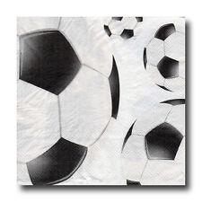 4 Motiv Servietten Napkins Tovaglioli Fussball (200) Serviettentechnik