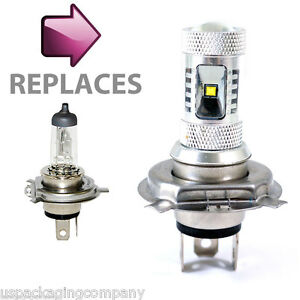 Led Headlight Bulb >> Motorcycle Bike 400lm H4 30w Cree Led Headlight Head Beam Bike