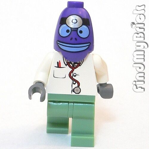 M835 Lego SpongeBob The Emergency Room Violet Fish Doctor Minifigure 3832 NEW