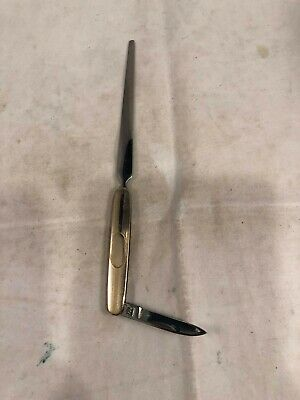 Rosewood Letter Opener Brass engraved LEXUS