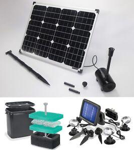 50 w solare stagno immersione da giardino pompa filtro led for Stagno da giardino