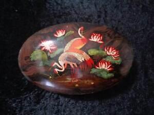 Antique-Tin-Can-Weese-Biscuits-Luxus-Mischung-Vintage-around-1920-Water-Lilies