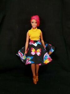 New-Curvy-fashion-butterfly-skirt-and-top-for-Your-Curvy-Barbie-Doll-Au-Made