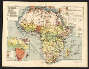 1930 MAP of Africa & Oceans by GGK VSNH USSR Soviet | eBay