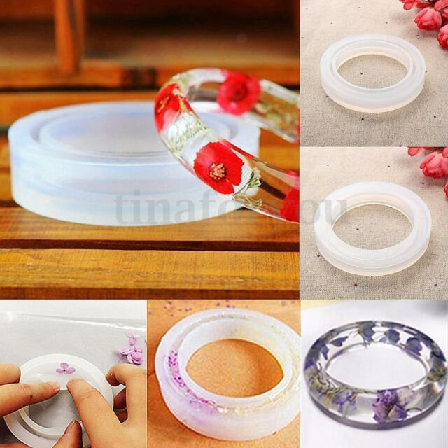 Round Silicone Bracelet Mould Mold For Resin Curve Bangle DIY Jewelry Making NEW
