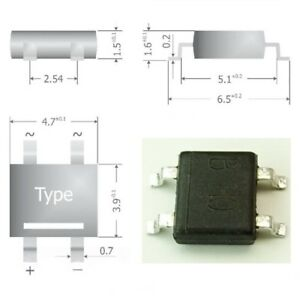 S341-50-Stueck-SMD-Brueckengleichrichter-Gleichrichter-80V-0-8A-Mini-DIL-Gehaeuse
