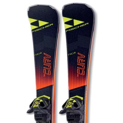 Fischer 2018 The Curv DTX Skis w RC4 Z12 Bindings NEW    164,171,178cm