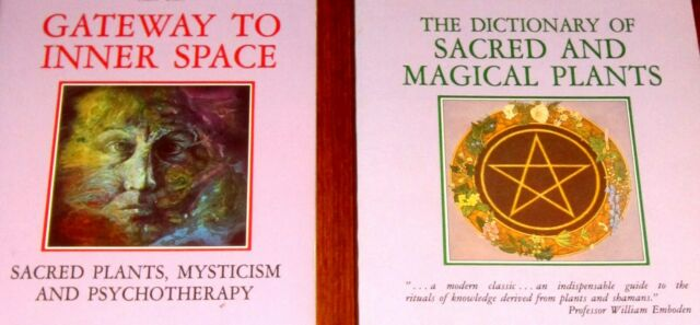 2 Books Ratsch PSYCHEDELIC INNER SPACE SACRED PLANTS MYSTICISM McKenna Ayahuasca
