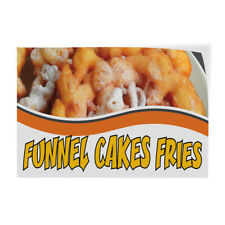 Decal Stickers Funnel Cakes Fried Advertising Printing Vinyl Store Sign Label