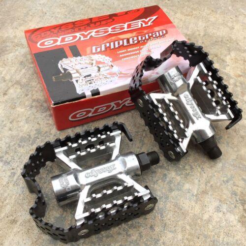 ODYSSEY TRIPLE TRAP PEDALS 9//16 FOR 3 PC CRANKS BMX BIKE PEDAL HARO SE REDLINE