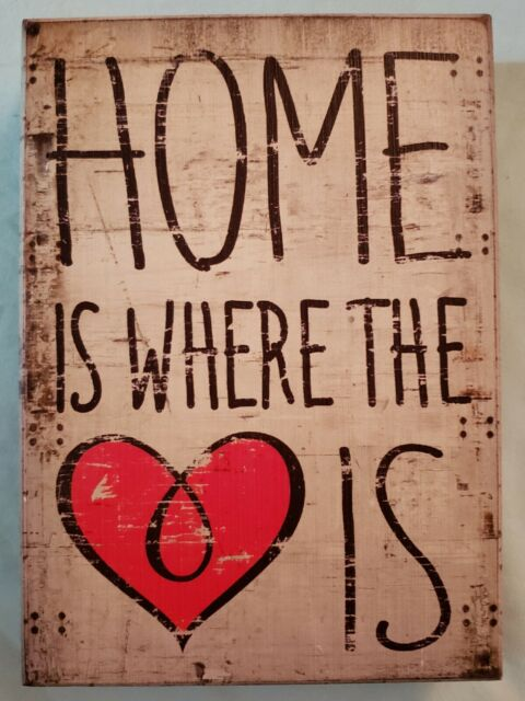 Home Is Where The Heart Is Plaque Hanging Sign LaserCut 300x200 Mm Mdf  Craft