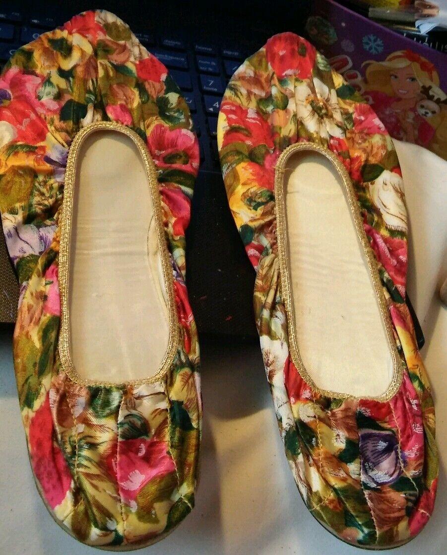 Van raalte, zapatos mimados, flores, zapatos planos, 8 - 8,5 metros.