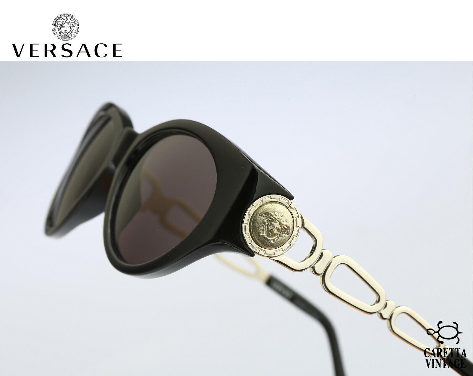 Gianni Versace 490 N52, 90s Vintage cat eye sungl… - image 1