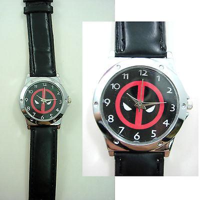 Marvel Super Hero Deadpool Superhero Boy Man Wrist Watch Wristwatch + CHARM