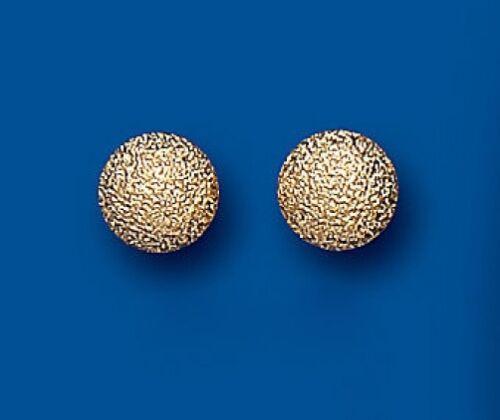 Bola De Oro Pendientes con Pasador Aretes Bola De Oro Amarillo Helado Stud Pendientes 7mm