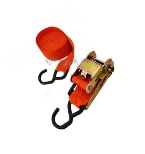 """long Single Ratchet Tie Down Strap Set 2/'x25/"""" Boat Luggage Secure Stowage Leash"""