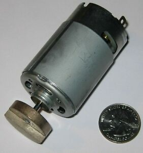 Mabuchi 555 Massager Motor - 12V DC - 4000 RPM - Heavy Vibrator Brass Weight