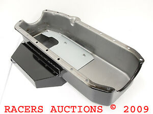 55-79-SBC-Chevy-Champ-Style-Oil-Pan-Black-350-383-400-Circle-Track-Race-Modified