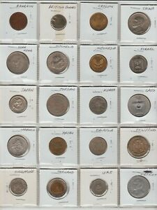 Collection-20-Asian-and-Middle-Eastern-Coins-19-countries