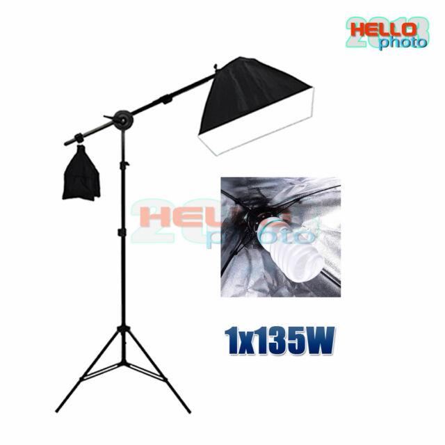 Photography Studio Softbox Boom Arm Lighting Video Soft Box Bulb Light Stand Kit
