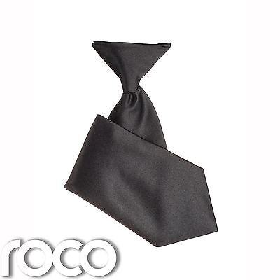 Costante Nero Per Ragazzi Elasticizzata Cravatta, Baby Boys Black Tie, Ragazzi Lacci Formali-mostra Il Titolo Originale