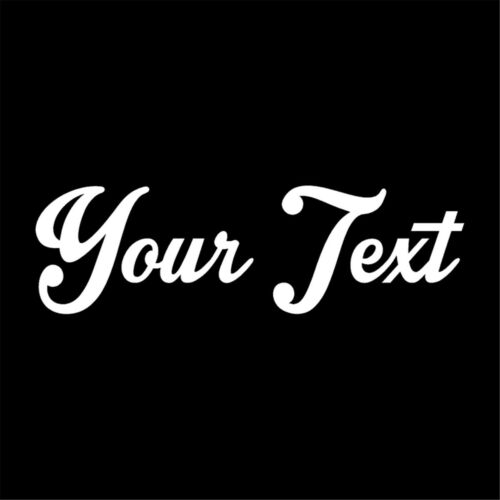 Multicolor Your Text Custom Personalized Lettering Vinyl Car Wall Sticker Decal