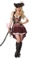 Damen Sexy Piraten Bikini Cosplay Party Kostüm Halloween*Karneval Costume WSJ182