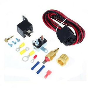 Details about Electric Radiator Engine Fan Thermostat Temperature Switch  Relay Kit 185 Degree