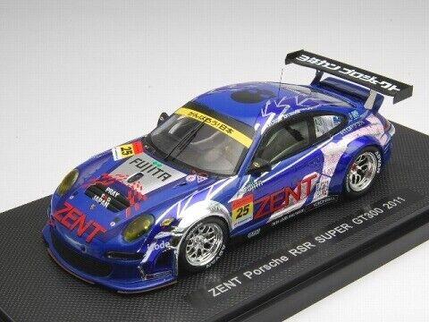 Ebbro 1:43 ZENT Porsche RSR Super GT300 2011 #25 from Japan
